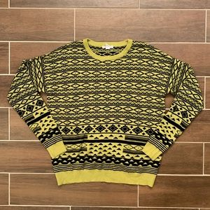 Forever21 Bright Yellow Tribal size L Sweater